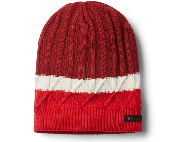 Columbia Carson Pass Beanie II, beet/red lily/chalk
